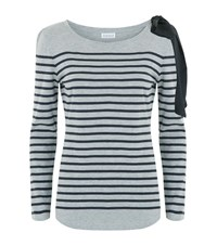 Claudie Pierlot Trocadero Breton Bow Top Female Grey