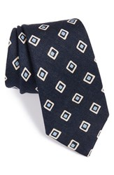 Men's Psycho Bunny Medallion Silk Tie