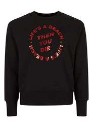Topman Design Black Life's A Beach Sweatshirt