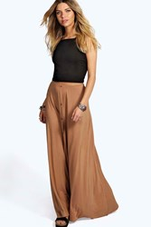 Boohoo 90'S Grunge Style Button Front Maxi Skirt Camel