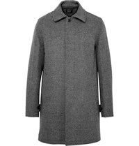 J.Crew Micro Houndstooth Wool Blend Car Coat Gray