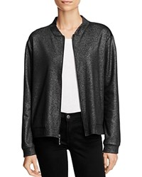 Status By Chenault Knit Bomber Jacket 100 Bloomingdale's Exclusive Black