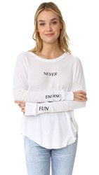 Wildfox Couture Never Ending Thermal Tee Clean White