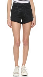 Ksubi Pretty Vegas Coated Shorts Black Coated