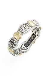 Women's Konstantino 'Aspasia' Hammered Band Ring Silver Gold