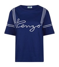 Kenzo Sailor Stripe T Shirt Female Blue