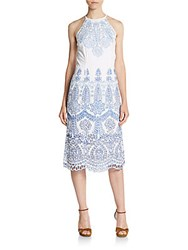 Kas Mara Embroidered Dress Blue