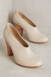 Anthropologie Fortress Of Inca Lucita Dipped Booties White
