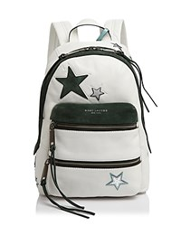 Marc Jacobs Star Patchwork Backpack White Multi
