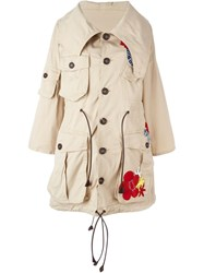 Dsquared2 'Halia' Parka Nude And Neutrals