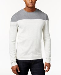 Calvin Klein Men's Crew Neck Colorblocked Shirt Gray
