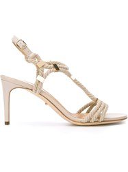 Sergio Rossi Heeled Rope Sandals Nude And Neutrals
