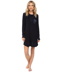 Midnight By Carole Hochman Packaged Key Item Sleepshirt Women's Pajama Navy