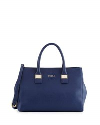 Furla Amelia Medium Leather Tote Bag Navy