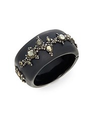 Alexis Bittar Lucite Crystal Lace Bangle Black