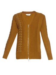 Edun Cable Knit Wool Cardigan