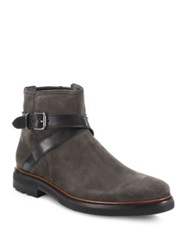 Coach Bryant Strap Suede And Leather Chelsea Boots Steel Grey