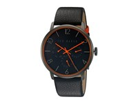 Ted Baker Smart Casual Leather Gunmetal Grey Watches Gray
