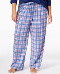 Karen Neuburger Plus Size Printed Pajama Pants Navy Plaid
