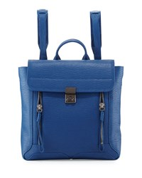 Pashli Leather Zip Backpack Cerulean 3.1 Phillip Lim