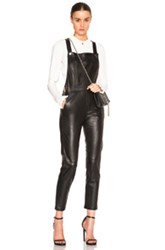 Carolina Ritz Leather 90 Jumpsuit In Black