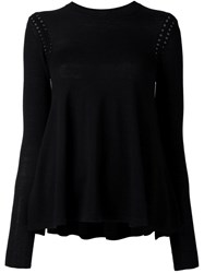 Mcq By Alexander Mcqueen Open Knit Detail Jumper Black