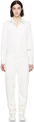 Off White Ssense Exclusive White Striped Jumpsuit