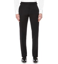 Tom Ford Brinsley Fit Wool And Mohair Blend Trousers Black