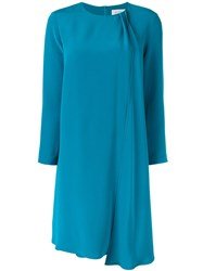 Gianluca Capannolo Draped Panel Dress Blue