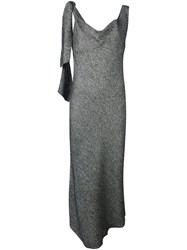 Maison Martin Margiela Tweed Draped Dress Black