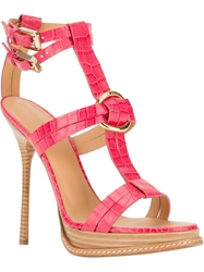 Dsquared2 Ankle Strap Heel Pink And Purple
