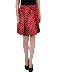 Moschino Couture Knee Length Skirts Red