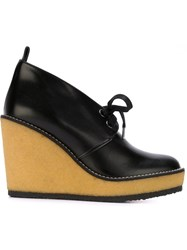 Robert Clergerie Laced Wedges Black