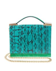 Brian Atwood Aston Watersnake Crossbody Bag Aqua