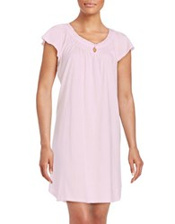 Miss Elaine Petite Embroidered Nightgown Ice Pink