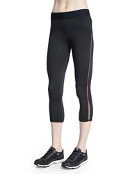 Heroine Sport Studio Mesh Side Capri Sport Leggings Black
