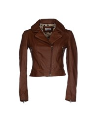 Twenty Easy By Kaos Coats And Jackets Jackets Women Brown