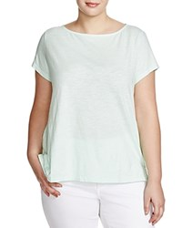 Eileen Fisher Plus Organic Cotton Tee Green Mint