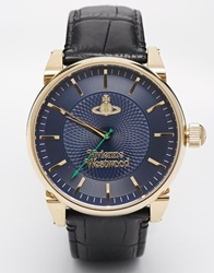 Vivienne Westwood Leather Strap Watch Black