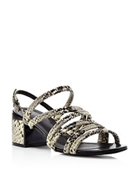 Robert Clergerie Eolia Strappy Mid Heel Sandals Gray
