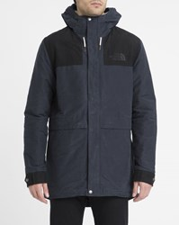 The North Face Navy Katavi Mountain Two Tone Sherpa Lined Hooded Parka Blue