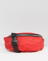 Asos Nylon Bum Bag Red