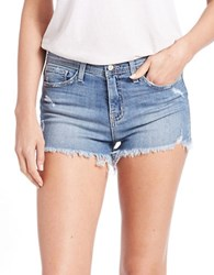 Flying Monkey Cut Off Denim Shorts Light Wash