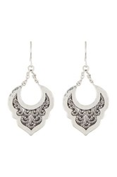 Lois Hill Sterling Silver India Granulated And Hammered Drop Chain Earrings No Color