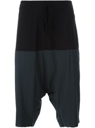 Lost And Found Drop Crotch Track Shorts Grey