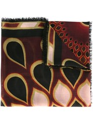 Givenchy Printed Scarf Red