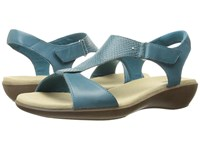 Clarks Manilla Penna Navy Leather Women's Sandals Blue