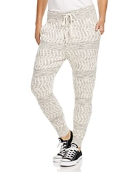 Free People Roadtrip Knitted Track Pants Ivory Combo