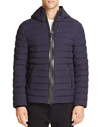 Mackage Ozzy Hooded Quilted Down Jacket Navy