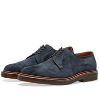 Alden Crepe Sole Plain Toe Blucher Blue